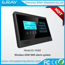 High quality LCD display touch screen GSM Wireless Home Burglar Security Alarm System insert SIM card