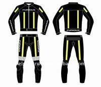 Drag Racing Two Piece Leather Suit Custom Tailor Made