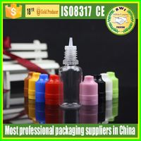 Transparant e-liquids tobacco 10ml 30ml PET plastic dropper bottle