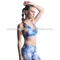 Women Sexy Dry Fit Nylon Spandex Sports Bra