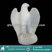American style white marble stone bald eagle