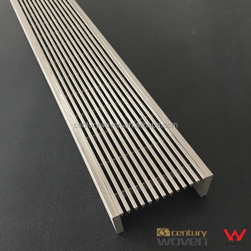 75mm width stainless steel swimming pool overflow grating outdoor drain cover