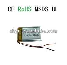 Favorites Compare Hot sale Rechargeable Lipo Battery 052030 250mAh 3.7V for dgital product