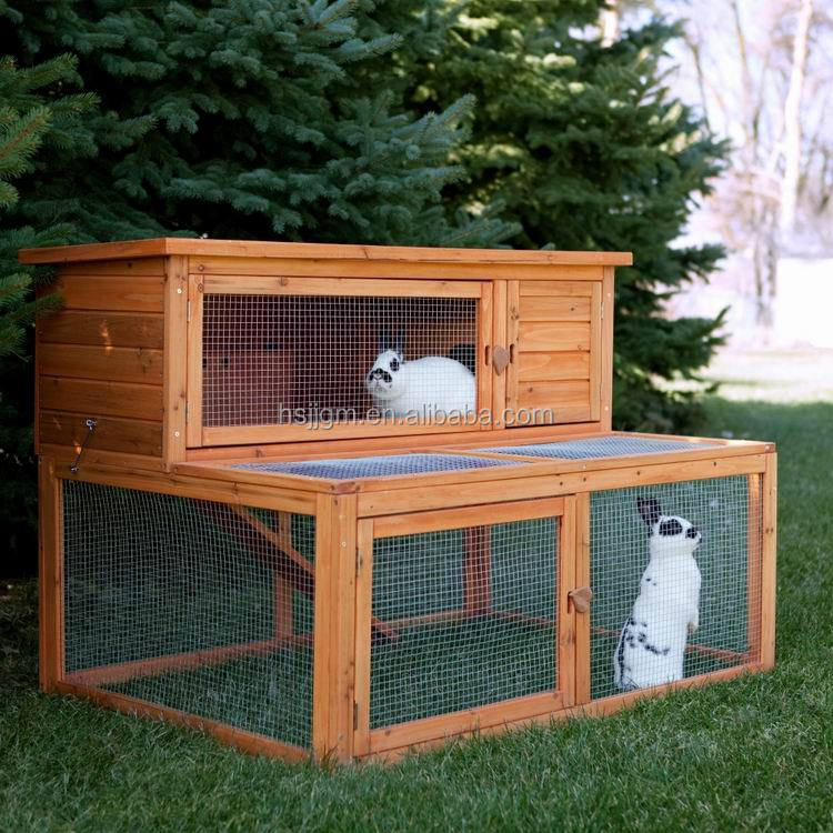 outdoor wooden rabbit cage