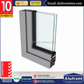 Aluminum profile 6063-T5 with as2047 certificate Manufacturer in shanghai for Bathroom Glass Door From Alufront Construction