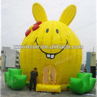 Easter Bunny,air blown Easter Rabbit/Easter inflatable gift toy,inflatable bouncers for adults