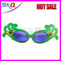 Hot Sell 2014 Brazil Football Fans Sunglasses 2014 New Year Glasses