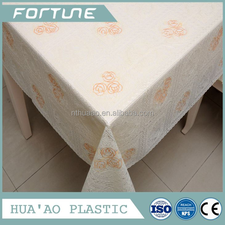 hotsale golden stamping pvc lace piece for dining table overlays