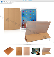 Pu leather three folding stand smart case cover tablet case for ipad pro 12.9
