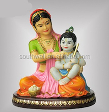 India religious hindu god murti with fairy ornament resin hindu god