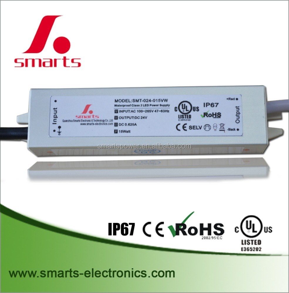 CE UL ROHS 12 volt led driver 12v 15w constant voltage led power supply