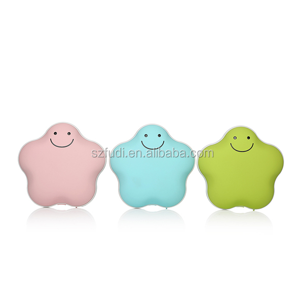 Mini usb charging warm hand treasure large capacity 3600 ma mobile power supply Lucky star warm hands