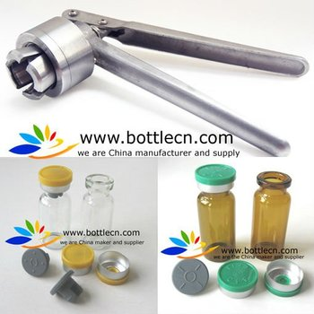 medical equipment,8mm/11mm/13mm/20mm/28mm/32mm manual vial/bottle crimper tool decapping pliers, machine for flip top vial caps