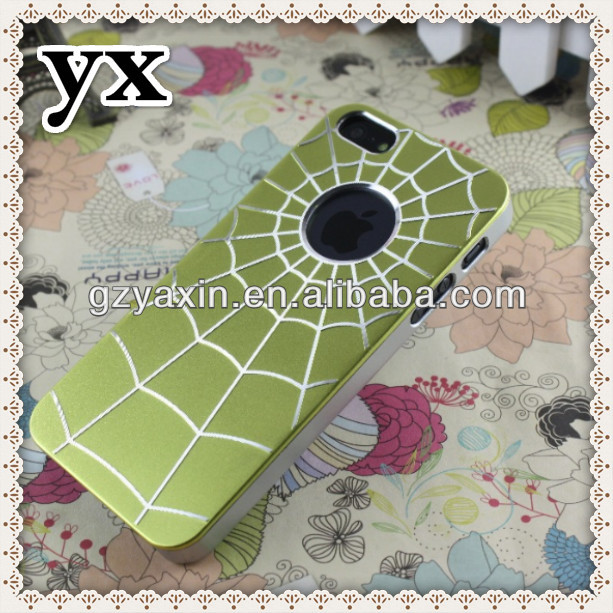 pop spider web case gild design aluminum bumper case for iphone 5