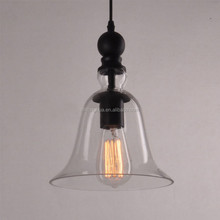 Modern Glass Pendant Light LED Hanging Light Fixture