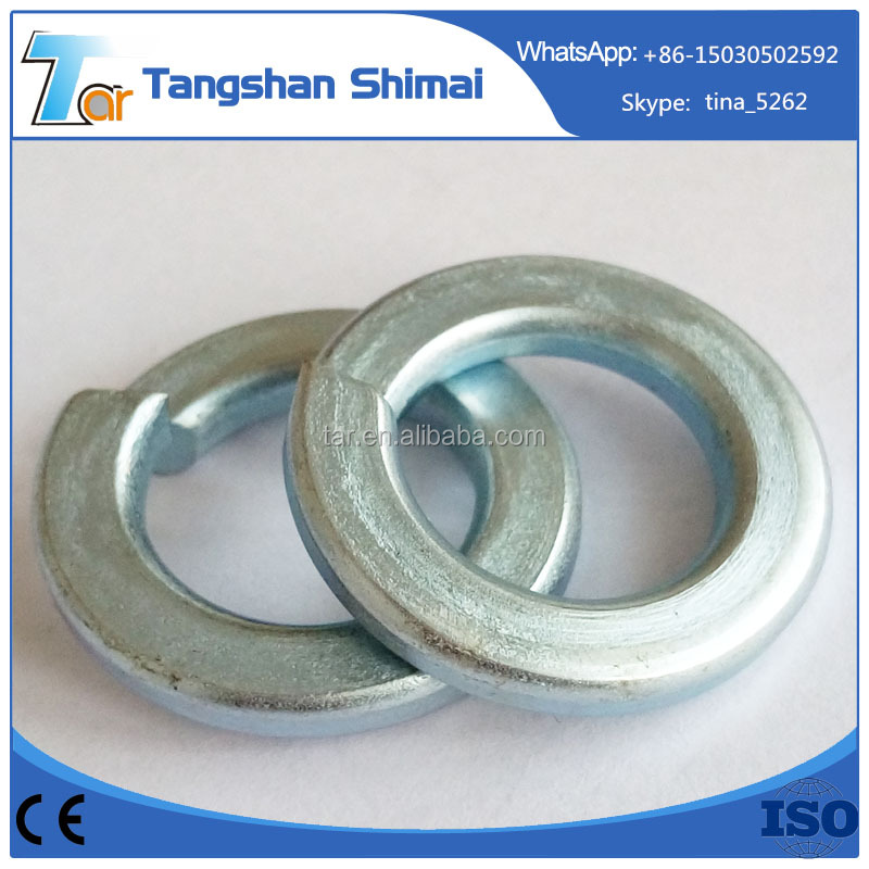 Hot sale low price China fastener manufaturer galvanized standard spring washer specifications