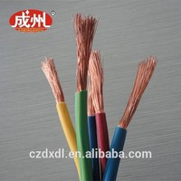 Hot! Red BV 2.5 Electircal Wire H05VV-F Flexible Electric Cable Wire With Copper or CCA Conductor PVC Insulation wire