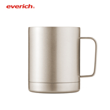 Gold Stainless Steel Coffee Mug with Lid Double Wall Insulated Beer Travel Mugs with Handle