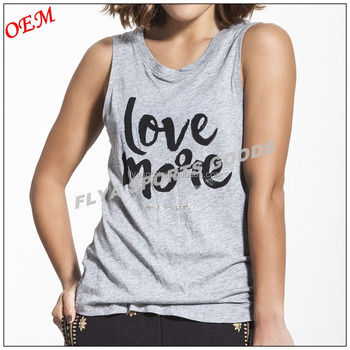 Customized Plain Round Neck Women Fitness Sleeveless Tank Top Loose Fit Gym T-shirt Yoga Wear