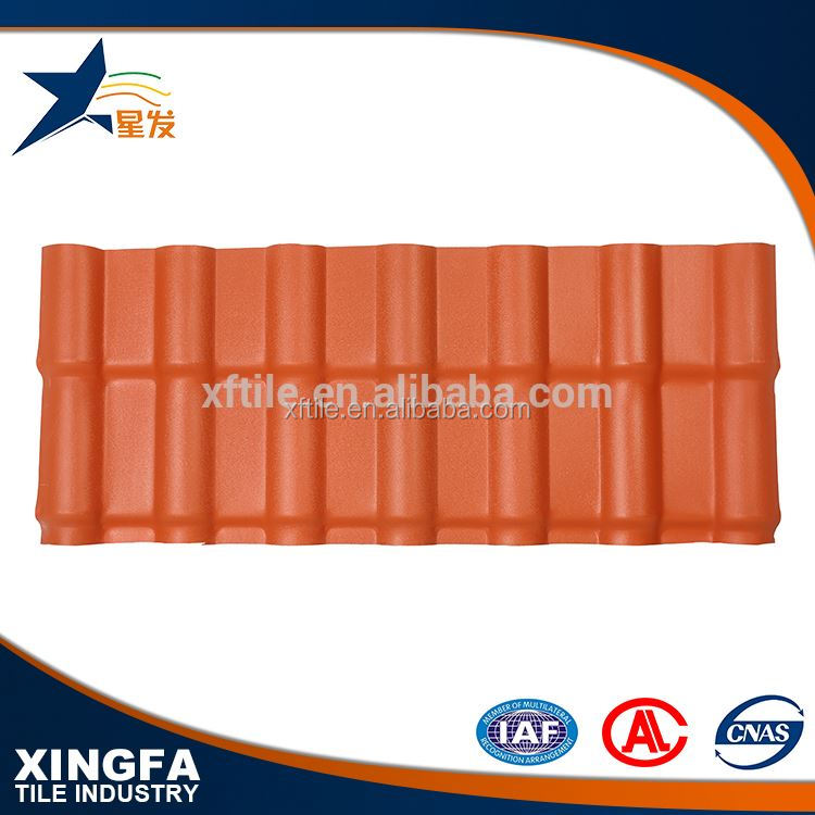 Heat insulation france synthetic resin roof tiles