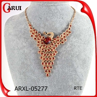 Jewelry Necklace accessories gold fashion crystal peacock Pendant Necklace