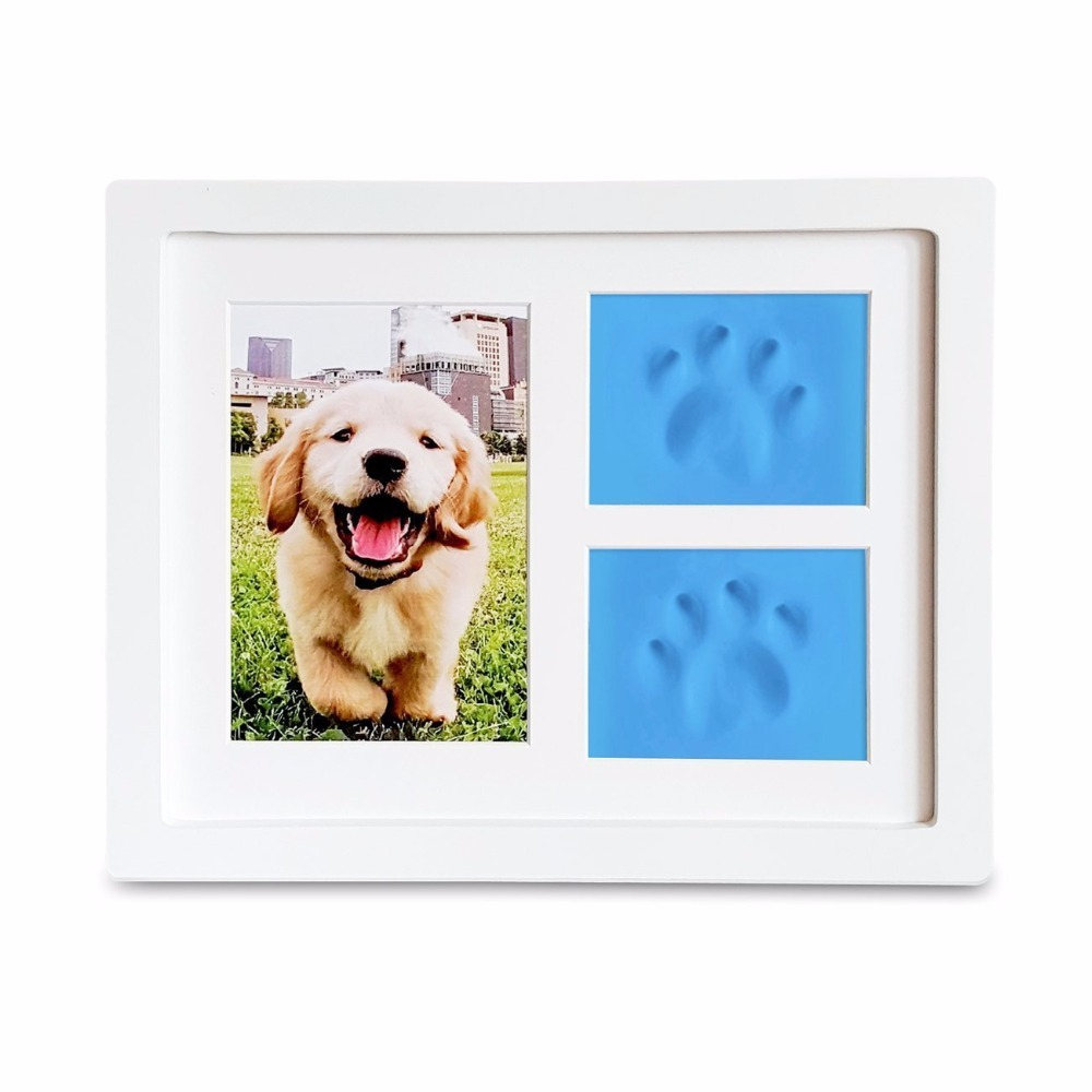 personalised dog memorial picture frames with paw print keepsake - Dog Memorial Picture Frames