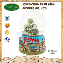Roma souvenirs products resin online cute snow globe gifts