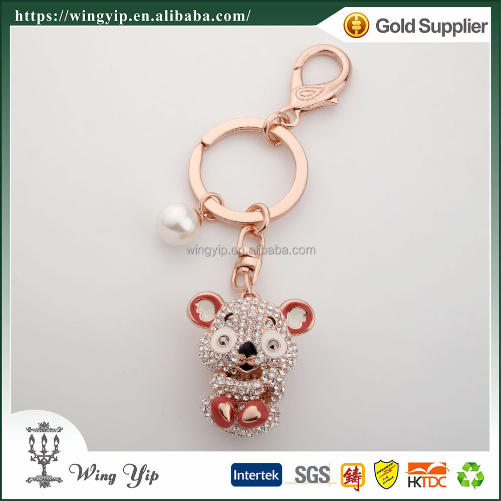 Wholesales custom made Animals Squirrel electroplate Promotion Keychain