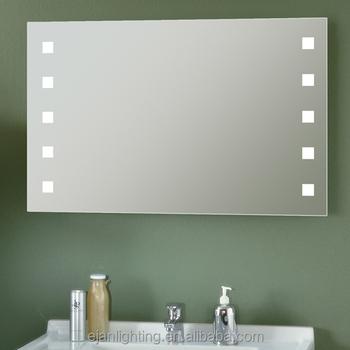 frameless bathroom vanity mirror build in double sink frameless wall mount touch screen dot lighted bathroom vanity mirror with clock