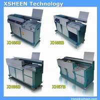glue binder books machine, single clamp perfect book binding machine