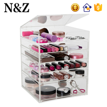 NZ M98 Custom 4 Drawers Cosmetic Organizer Clear Acrylic Makeup Storage Case