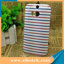 3D sublimation Hard Plastic phone case printing for HTC One M8