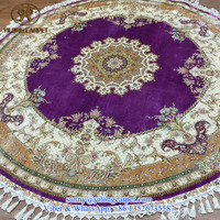 nice purple dia 220cm luxury round classical medallion oriental nanyang handknotted handmade persian silk rug