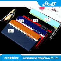 mix and match colors leather flip ultra case for iPhone 6 with one card slot stand style
