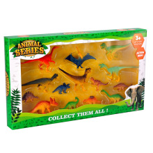 Wholesale 8PCS Middle Size Plasitc Dinosaur Toys Set with Various Mini Dinosaur