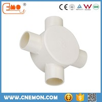 Electrical Cable Conduit PVC Pipe Fitting 4 Way Circular Box