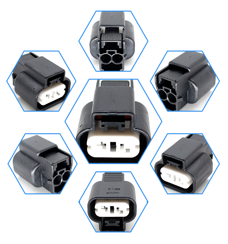 2 pin ket kum automobile connector with terminals for mitsubishi