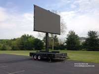 China Mobile led billboard trailer
