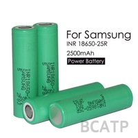 Original Authentic 18650 battery 3.7V Samsung 25R 2500mah cell