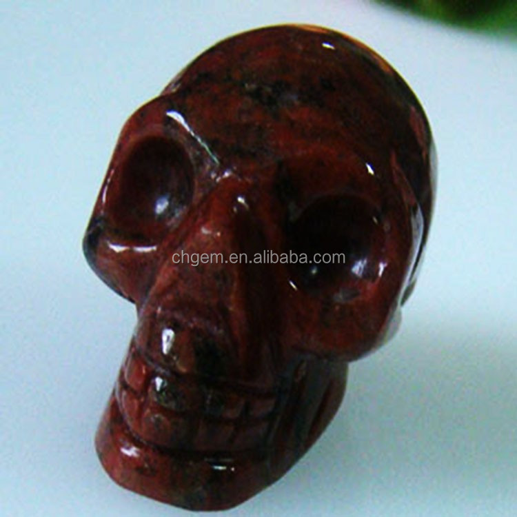 Hand-made carvings sesame red skull carvings