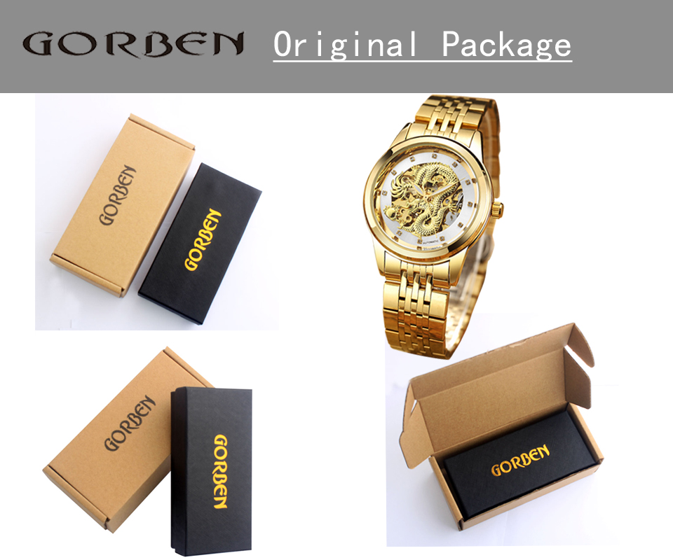 Men watch with box