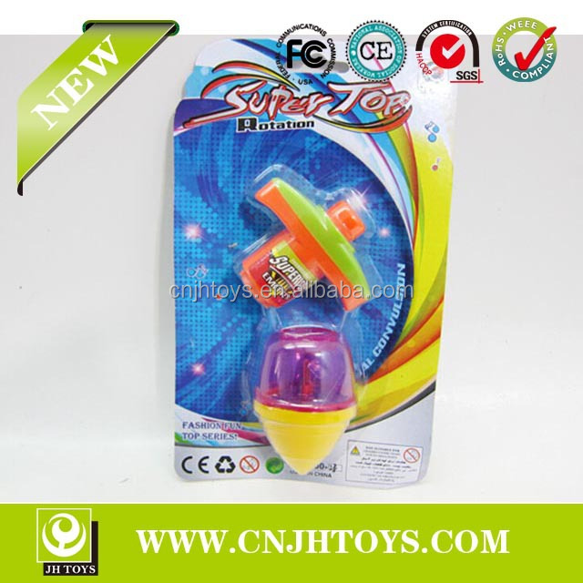 0300-28 Kids New Design Cute With Light Promotional Gift Flashing Peg-Top