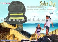 Solar backpack to charge mobile