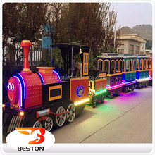 Wonderful amusement park electric trains backyard train used trackless train for sale