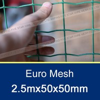 2.5mx50x50mm Plastic Coated Welded Wire Mesh Panel