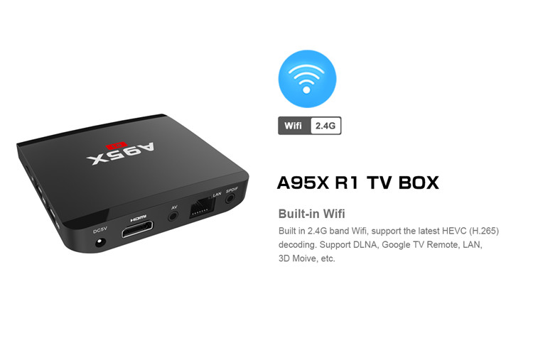 New product A95X R1 Amlogic S905w Quad core 1g 8g A95x Tv Box Set-top S905W for wholesales Android
