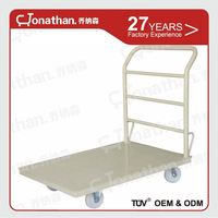 Hand Push Platform 4 Wheels Metal