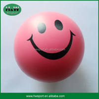 Besting Selling Cheap Promotional Polyurethane Foam Smiley Balls Toy Anti Pu Stress Ball