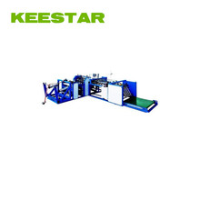 Keestar 38WBSS woven cement sack mouth hot cutting and making machine pneumatic