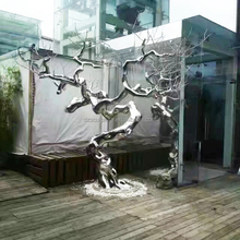 Stainless Steel Tree of Life Sculpture Holiday Decoration Style Statues